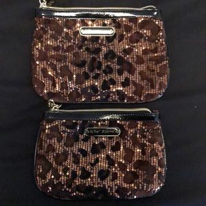 Betsey Johnson cheetah sequence bags